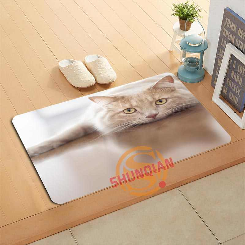 Kustom Kucing Keset Mandi Tikar Kaki Pad Dekorasi Rumah Kamar Mandi Tikar Pintu Tikar Lantai Tikar A320 #16