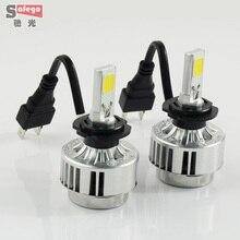 1 компл. H7 66 Вт COB чип H7 из светодиодов фары автомобиля 6000LM фар H7 из светодиодов фар для универсальный автомобиль из светодиодов фары противотуманные фары лампы