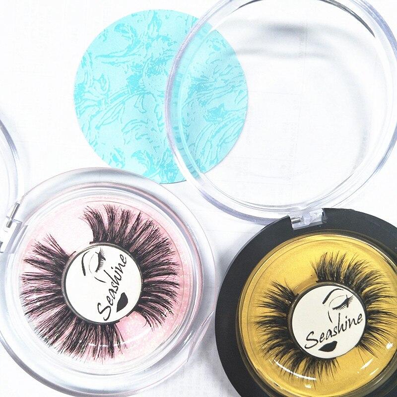 10 Pairs Sticker Logo 3D Mink Eyelashes Extension Natural Soft Mink Lashes Extension 100% Really Mink Free Shipping