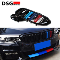 For BMW 5 Series G30 G38 M5 Front Kidney Bumper Racing Grill 2 Fin ABS Gloss Black M Grille Replacement 520i 530i 540i