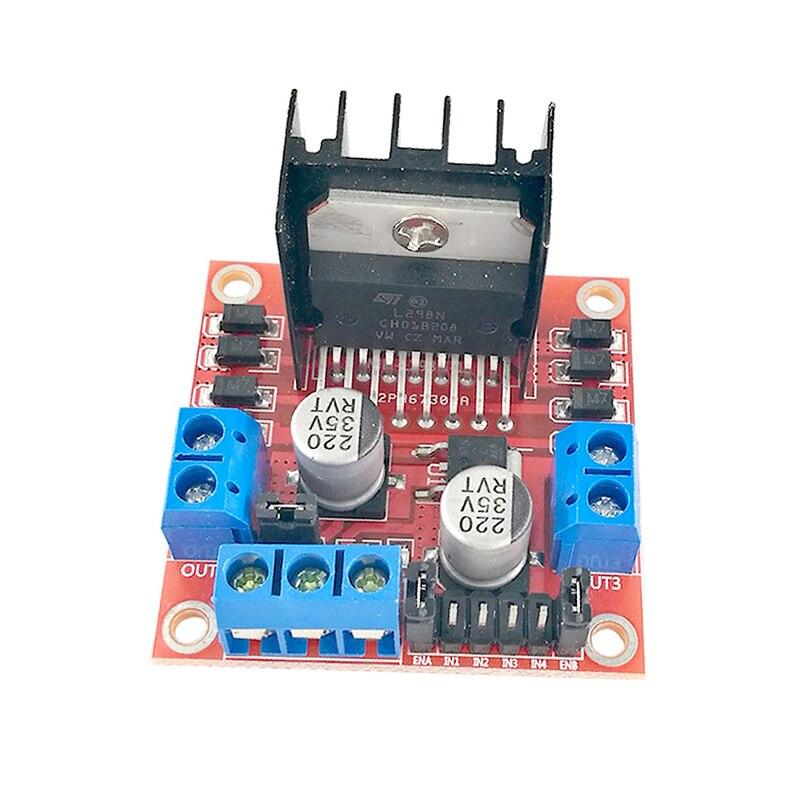 MCIGICM 50pcs New Dual H Bridge DC Stepper Motor Drive Controller Board Module L298N MOTOR DRIVER