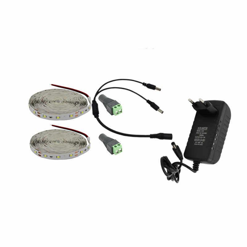 1 M 2 M 3 M 4 M 5 M LED Strip Lampu SMD2835 12V DC LED Sangat Terang pita Fleksibel Merah RGB Blub Hangat Putih