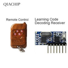 QIACHIP 433 Mhz Remote Control and 433Mhz Wireless Receiver Learning Code EV1527 Decoding Module 4Ch output With Learning Button