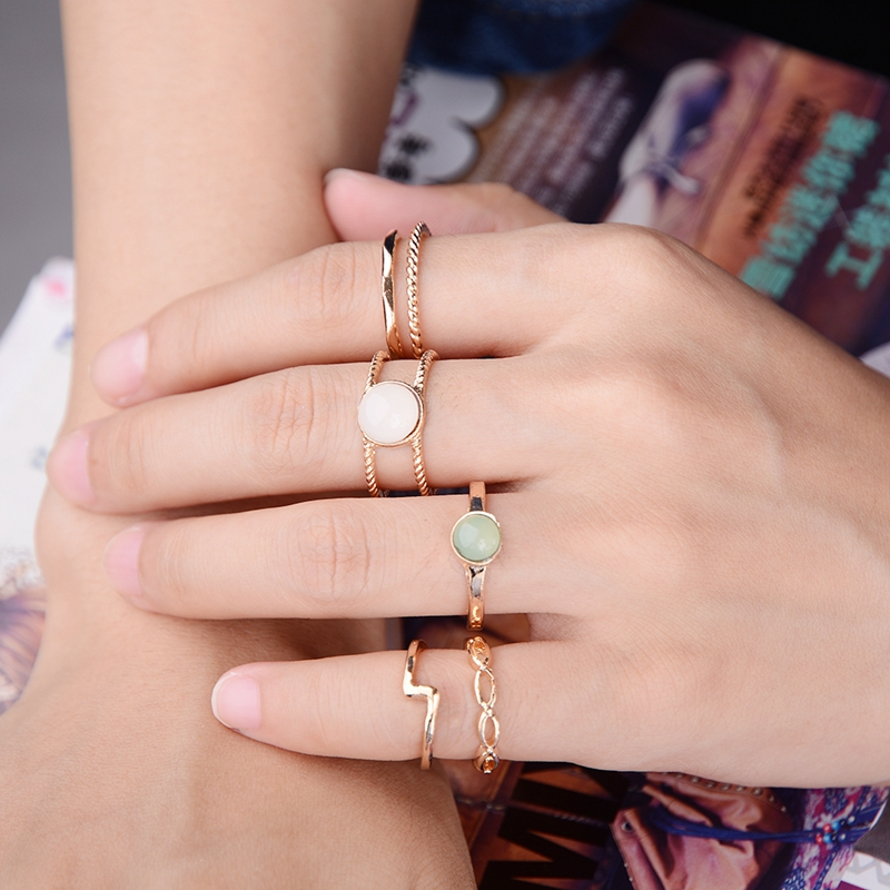 9pcs Vintage Ring Set Unique Antique Gold Knuckle Midi Rings For Women Party Boho Beach Jewelry Stone Rings Wholesale ...