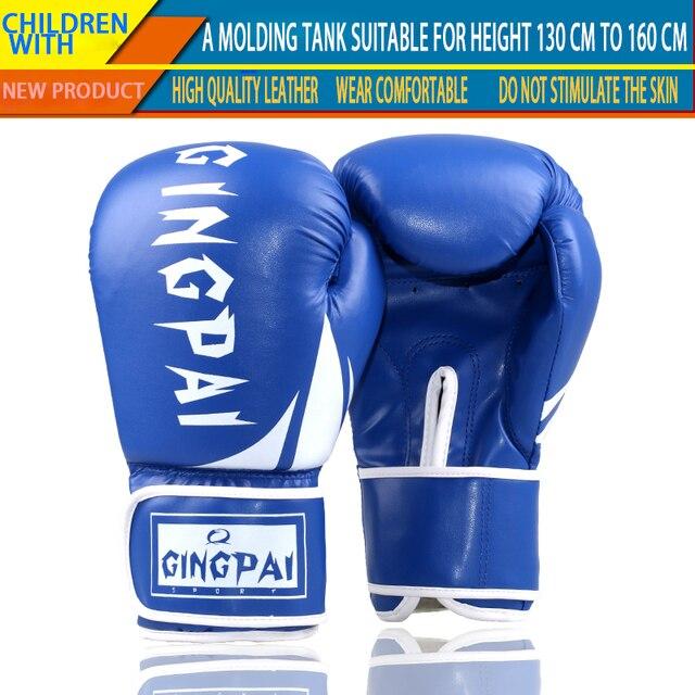 101455f6b Crianças Luvas De Boxe profissional 6 oz Crianças Livres de Combate Muay  Thai Luva Luvas De