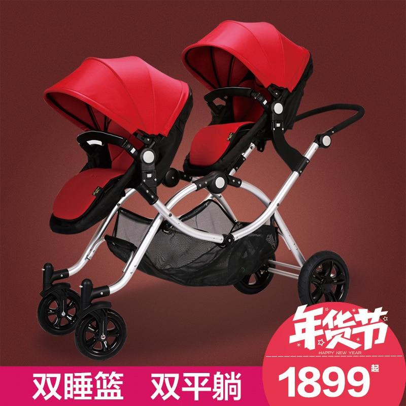 Baibos post shredded twins baby font b stroller b font font b double b font front