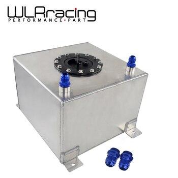 WLR RACING-tanque de combustible de aluminio de 20L con tapa/espuma interior espejo pulido celda de combustible sin sensor WLR-TK14