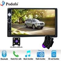 Podofo 7 Inch Touch Screen 2 Din Car Radio 2din In Dash Auto Audio Player Stereo