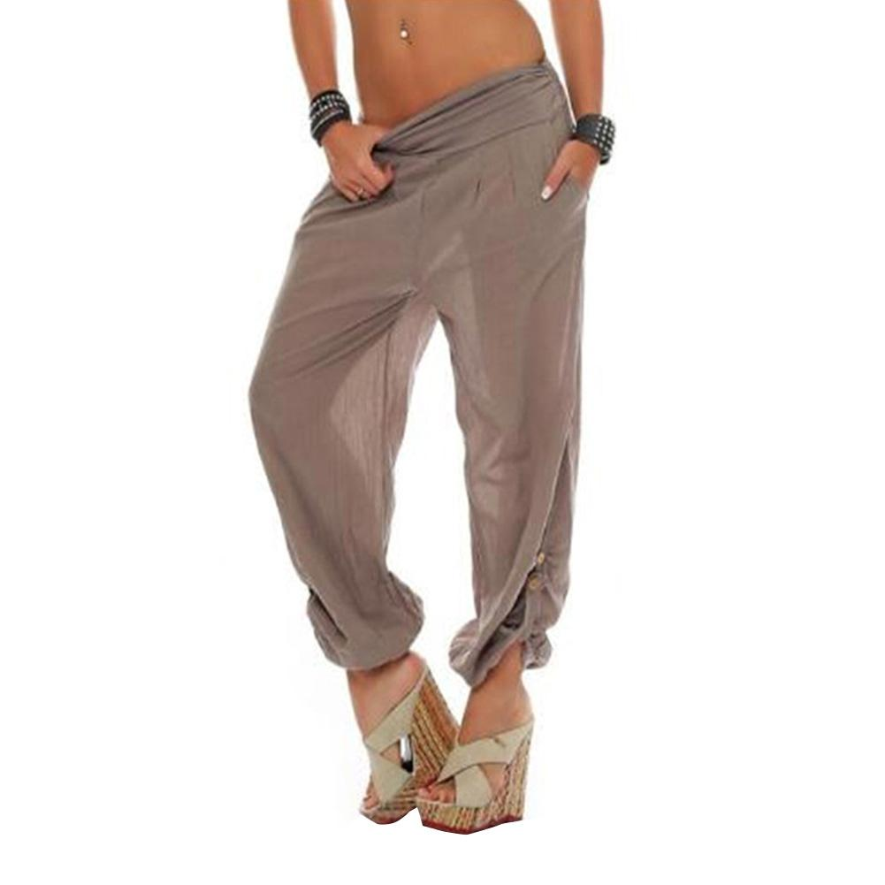 Harem   Pants   2018 Vintage Wide Leg Trousers Yuga Sporting Loose Bottom Elastic Waist Bohemia   Pants   Wide-leg   Pants     Capri     Pants