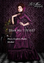 Custom Made Masquerade Costume Mina Dracula Victorian Bustle Gown Purple Color Lower Price Version Custom/Period Dress