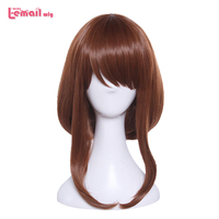 L Email Wig Brand New 35cm 13 77inch Women Cosplay Wigs Brown Heat Resistant Synthetic Hair