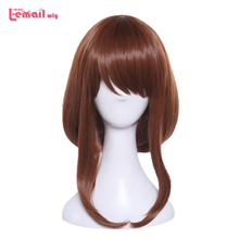 L-email wig Brand New  35cm/13.77inch Women Cosplay Wigs Brown Heat Resistant Synthetic Hair Perucas Cosplay Wig l email wig brand new 70cm long cosplay wigs blue purple color heat resistant synthetic hair perucas cosplay wig
