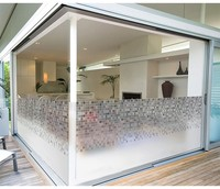 Customized size windows Film Glass Door Stickers Mosaic Static Cling Privacy Glass Window Film for bathroom Office home decor