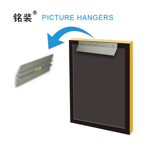 """Image 2 - 6"""" Heavy Duty Mirror and Picture Hanger for paintings Z Bar frame Hanger Supports 50 lbs Pallet or Panel Wall Mount Bracket"""