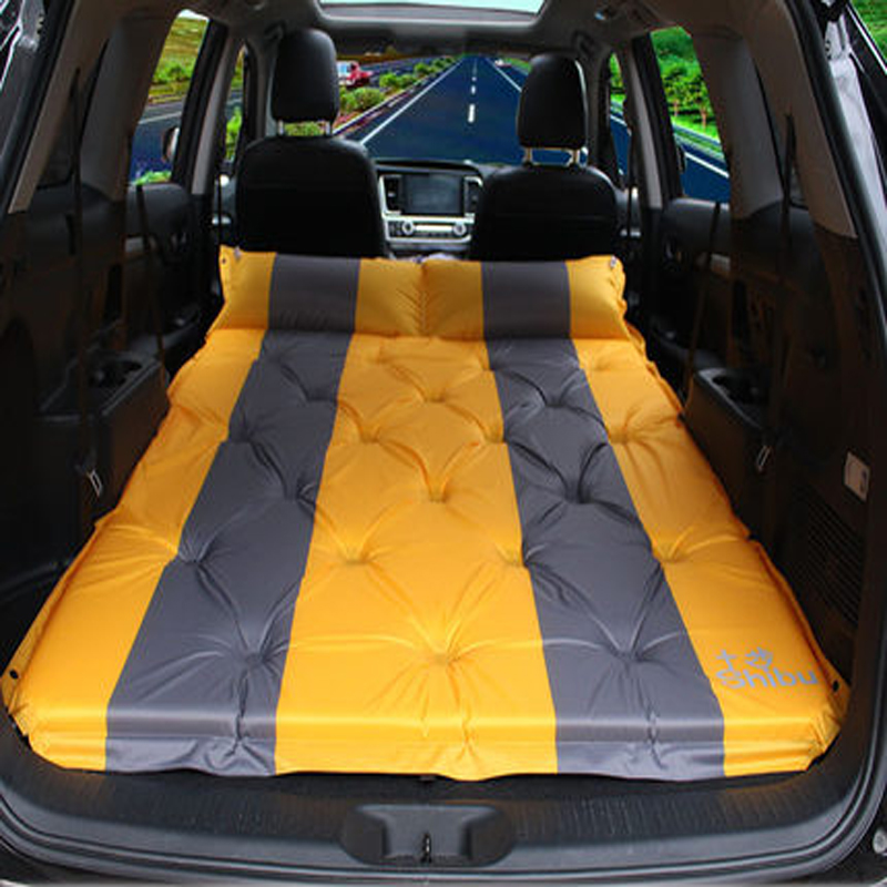 цена Truck-mounted inflatable mattress split SUV rear-row car car shock bed The back row travel bed of Oxford cloth car adult Bed mat онлайн в 2017 году