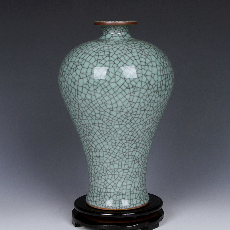 Jingdezhen ceramic antique vase flower vase crackle glaze ornaments simple fashion crafts Home Furnishing living roomJingdezhen ceramic antique vase flower vase crackle glaze ornaments simple fashion crafts Home Furnishing living room