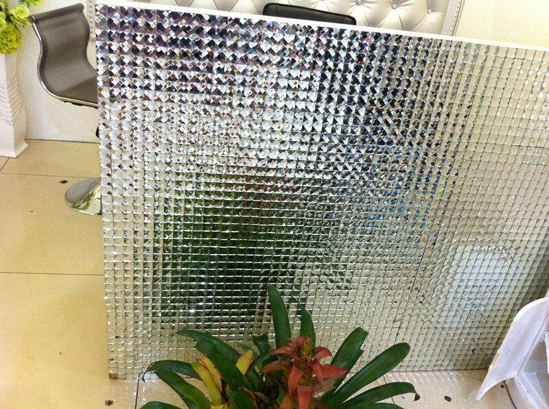 Glossy zilver kleur 13 geconfronteerd diamant spiegel glasmozaïek tegel luxe mode spiegel tegels voor keuken backsplash.jpg