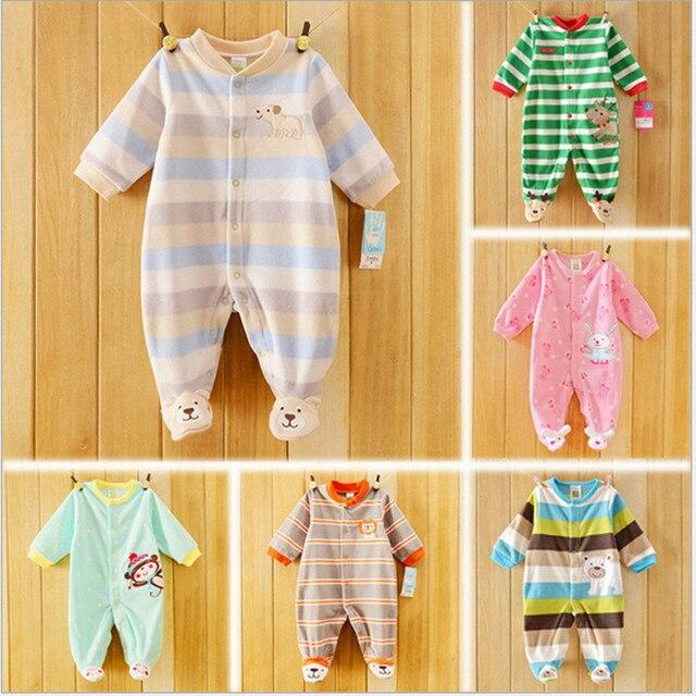 Высочайшее качество antumn & зимние детские трико руно дети комбинезон pajams длинный рукав дети пижамы детская одежда