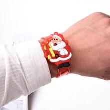 Рождественский светильник Санта Клаус флэш-игрушки наручные руки взять танец Вечеринка ужин вечерние светящиеся игрушки подарок для детей