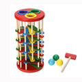 Infant Toy Educational Toys Multicolour Ball Ladder Toy Knock Wooden Toy for Kids