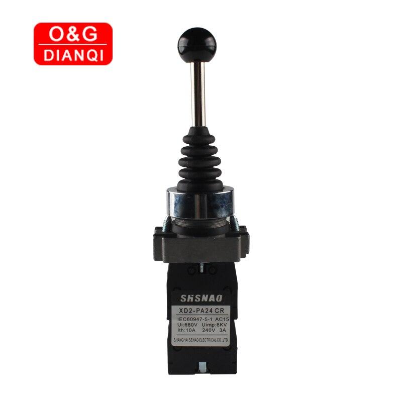 Interruptor de oscilação momentâneo do retorno da mola do interruptor 4no para o barco interruptor de oscilação industrial do interruptor 4 da posição do manche 22mm
