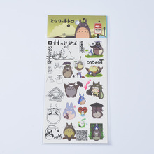 Studio Ghibli Anime TOTORO Waterproof Temporary Body Tattoo Stickers 20*10cm for Kids Miyazaki Hayao Model TOTORO Child Sticker