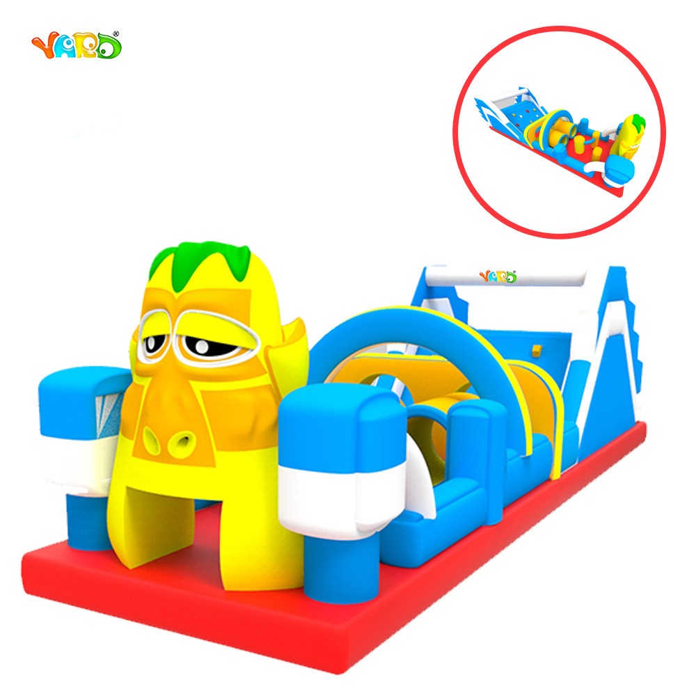 Funny Inflatable Obstacle Course Combo Tunnel with Slide inflatable pool slide funny water slide combo dual slides