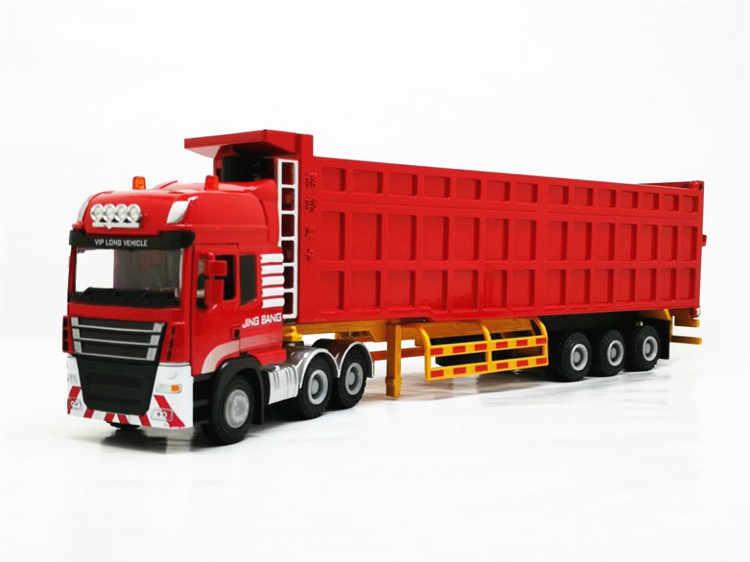 1: 50 วิศวกรรมรถบรรทุกรุ่น Alloy Semi - trailer รถบรรทุกสินค้าโลหะโลจิสติกส์ของเล่นรถ