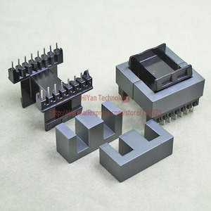 2sets/lot EE42-15 PC40 Ferrite Magnetic Core and 8 Pins + 8 Pins Side Entry Plastic Bobbin Customize Voltage Transformer