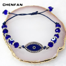 CHENFAN Woman's accesories bangles for women Jewelry bracelet blue Eye Hand Strap evil eye women bangles knot bracelet(China)