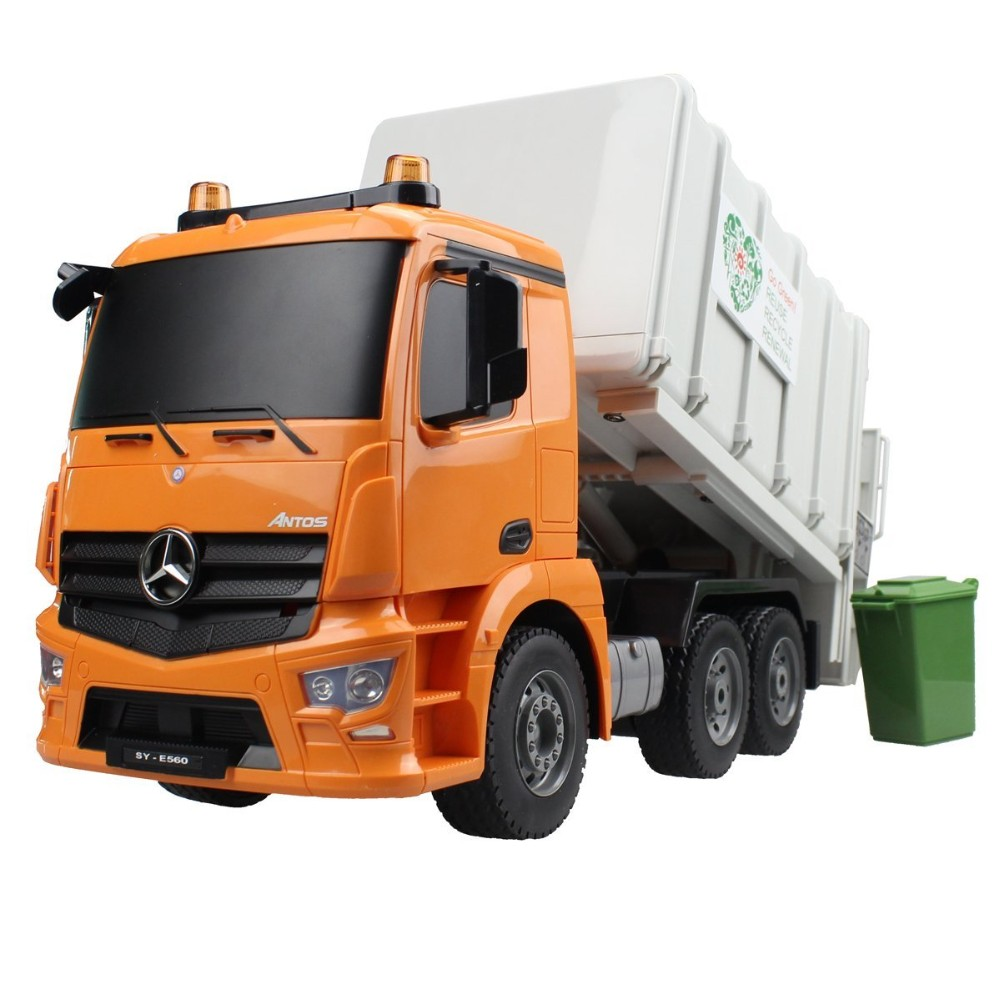 RC Truck 2.4G Large Garbage Truck Radio Control Construction Vehicle Model Hobby Toys For Children Birthday GiftsRC Truck 2.4G Large Garbage Truck Radio Control Construction Vehicle Model Hobby Toys For Children Birthday Gifts