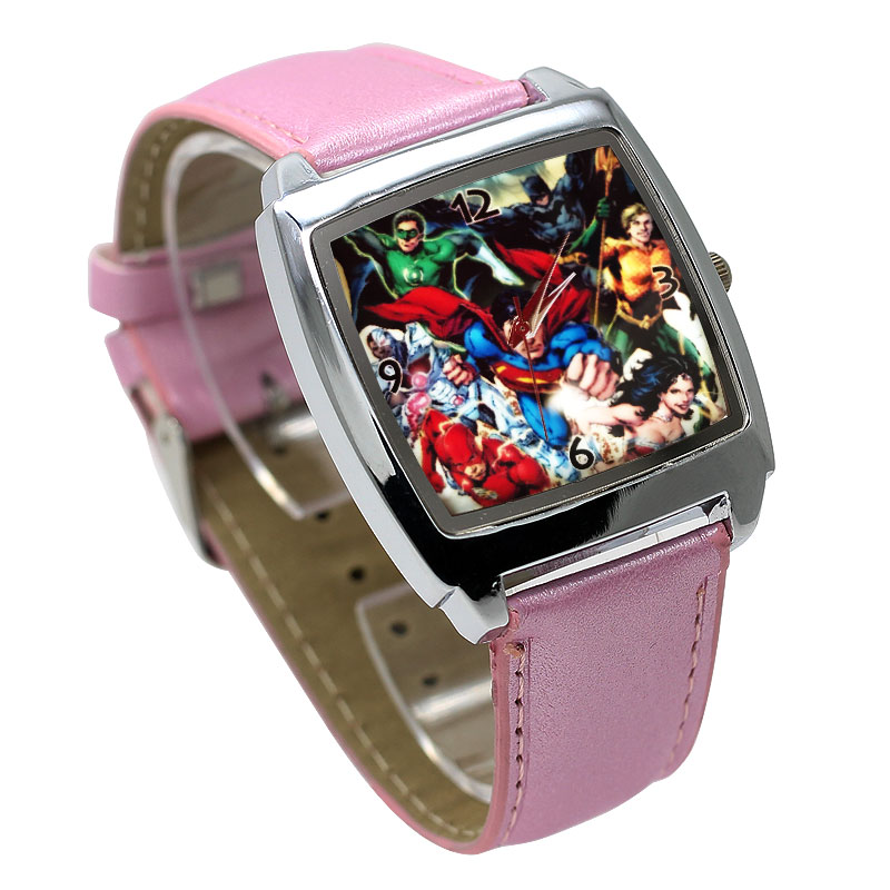 Best Selling Spider-Man Hulk Cartoon Cute Boy Quartz Watch Casual Fashion Leather Girl Birthday Gift Clock Reloj Montre Relogio