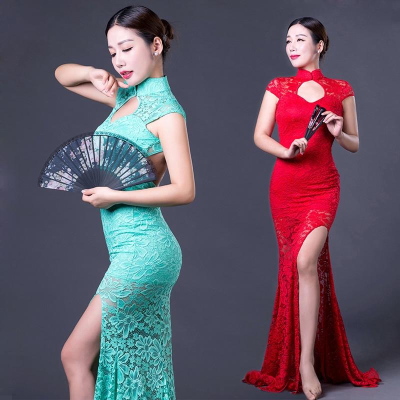 2018 New Performance Belly Dance Dress Short Sleeves Belly Dancing Dress Girls Belly Dance Cheongsam Dress