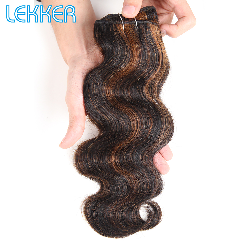 Lekker Pre-colored Indian Hair Bundles 100% Human Hair Body Wave Bundles Brown Blonde Piano Color P1B/30 P4/30 P4/27 P6/27 Sale