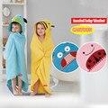 6 Styles cartoon cotton hooded baby blanket for newborn swaddle super soft kids Toddler hooded Cloak quilt fleece wrap blanket