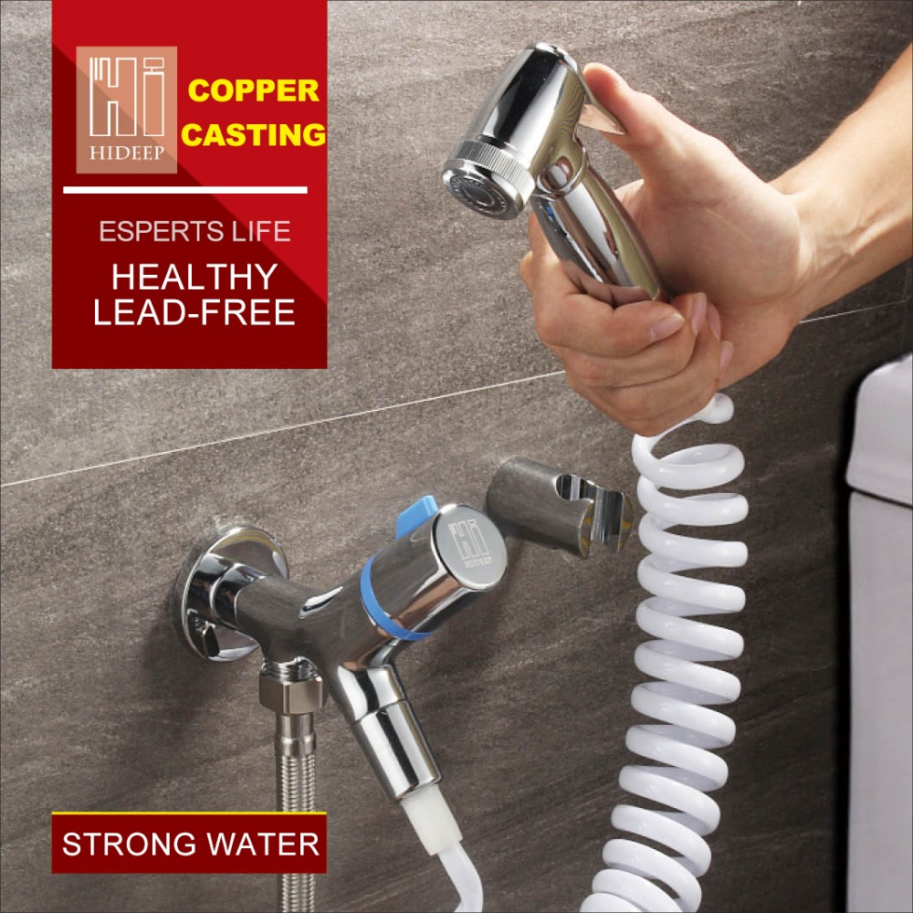 HIDEEP High-grade Brass Bidet Shattaf Shower Sprayer With Hot And Cold Water Mixer Valve Bar Holder nike nike fuelband sports bracelet battery cover green m