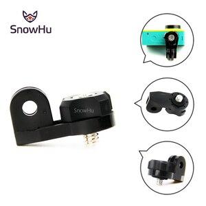 Image 2 - SnowHu adaptador de puente de cámara para xiaomi yi Mounts, orificio de tornillo de 1/4 pulgadas para cámara de acción Sony Mini Cam HDR AS20 AS30V GP135