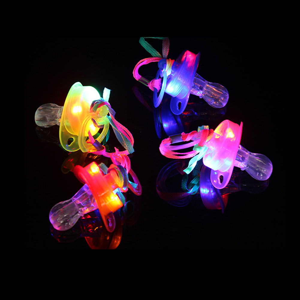 Flashing Colorful LED Whistle Light Up Fun In the Dark Party Rave kids Toys