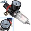 Black Pneumatic Air Source Treatment Filter Regulator w Pressure Gauge AFR-2000 Compressors