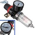 Preto Pneumática Tratamento de Ar Fonte Filtro Regulador w Manômetro AFR-2000 Compressores