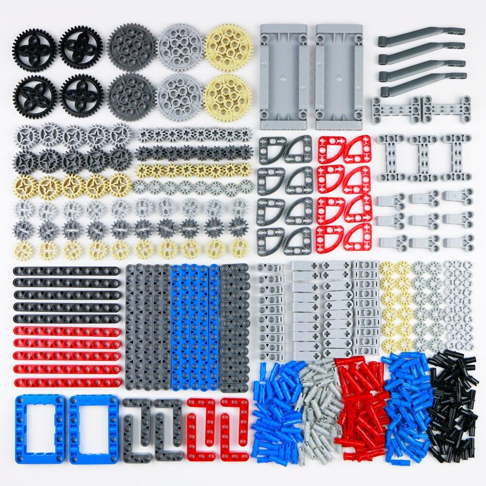 760 pièces Technic pièces blocs de construction ensemble engrenage sans tige faisceau bras panneau connecteur essieu voiture camion accessoire brique jouets pour enfants (lot de 760)