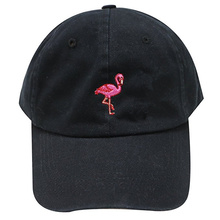 82f2f78b396 New Fashion Unisex Snapback Sun Hat Flamingoe Embroidery Cotton Baseball  Caps Women Men Solid Color Dad