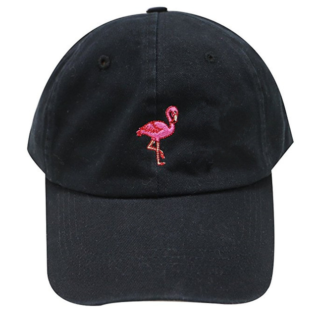 98ff590ec US $4.78 20% OFF|New Fashion Unisex Snapback Sun Hat Flamingoe Embroidery  Cotton Baseball Caps Women Men Solid Color Dad Hats Casquette Homme-in ...