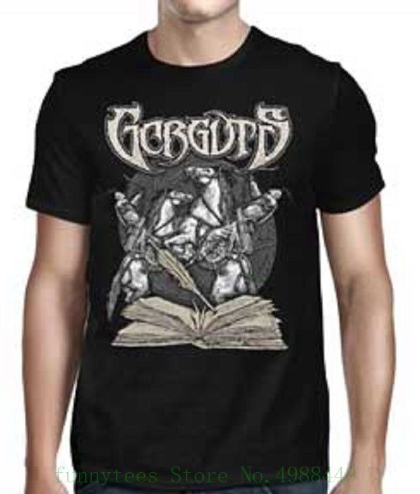 Gorguts - Arrows T Shirt - Size L - Large - Death Metal Tshirt Casual Short Sleeve For Loose Clothing Summer
