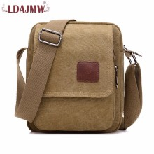 купить LDAJMW Multifunction Men Canvas Shoulder Bag Casual Travel Men's Crossbody Bag Vintage Men Messenger Business Handle Bags по цене 705.37 рублей
