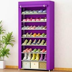 Супер емкость размещения большой емкости Мода удобство нетканые трубки из нержавеющей стали многофункциональный восемь шкаф для обуви