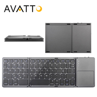 AVATTO B033 Folding Mini Keyboard Bluetooth Foldable Wireless Keypad with Touchpad for Windows,Android,ios Tablet ipad Phone