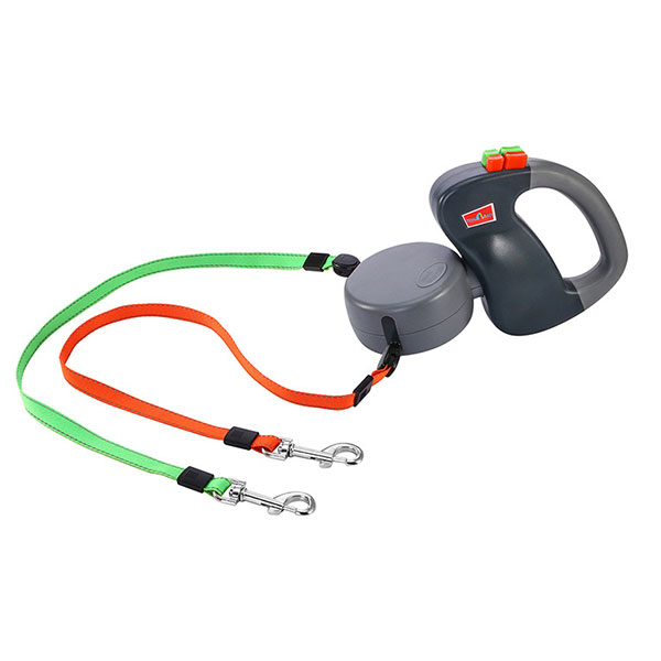 New Arrivals 2 Dog Retractable Leash up to 50 pounds per dog Leash Strong Lash for 2 Dogs