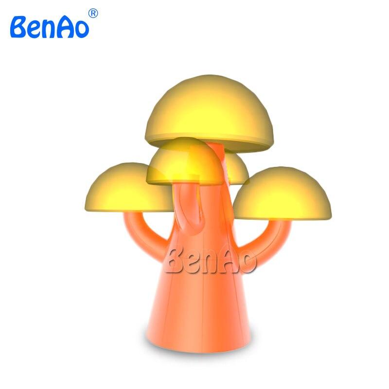 AA031 réplique de modèle d'arbre de champignon gonflable de couleur orange de conception mignonne pour la décoration, arbre d'éclairage gonflable coloré géant