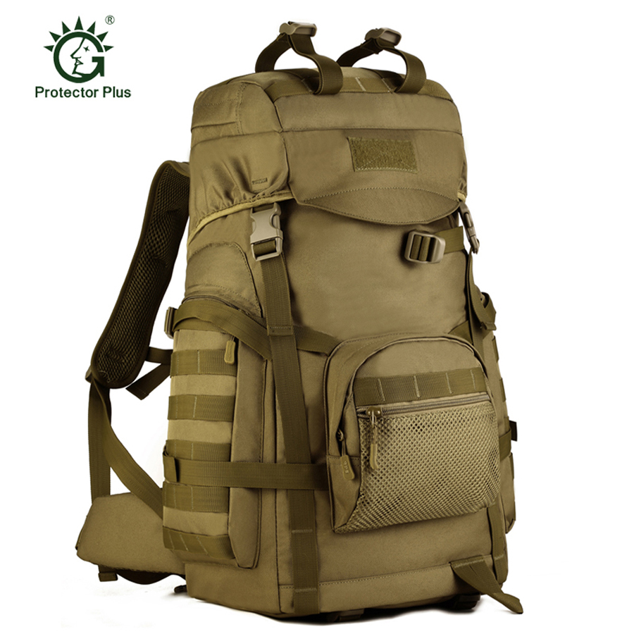 New 14iches Laptop Military Tactical Backpack Camping Bags Mountaineering Bag Men's Hiking Rucksack Travel Backpack 55L outdoor camping hiking military backpack multifunction tactical travel bag men women backpack 55l school bags laptop rucksack
